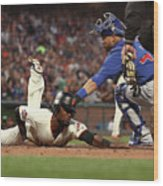 Alen Hanson and Willson Contreras Wood Print