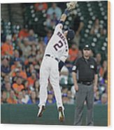 Alex Bregman and Darwin Barney Wood Print