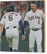 Alex Bregman and Jake Marisnick Wood Print