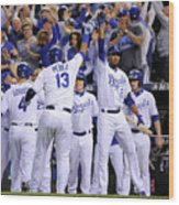 Alex Gordon and Alcides Escobar Wood Print