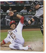 Alex Rios and Tyler Flowers Wood Print