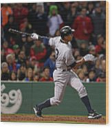 Alex Rodriguez and Willie Mays Wood Print