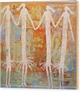 Ancestral Dancers Wood Print