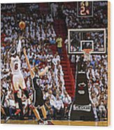 Andrei Kirilenko and Lebron James Wood Print