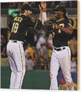 Andrew Mccutchen and Neil Walker Wood Print