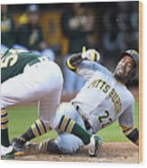 Andrew Mccutchen and Sonny Gray Wood Print