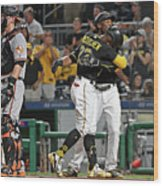 Andrew Mccutchen and Starling Marte Wood Print