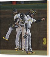 Andrew Mccutchen, Starling Marte, and Travis Snider Wood Print