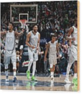 Andrew Wiggins and Jeff Teague Wood Print
