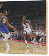 Andrew Wiggins and Kevin Durant Wood Print