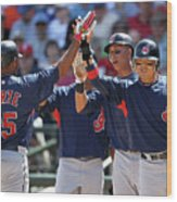 Andy Marte, Michael Brantley, and Shin-soo Choo Wood Print