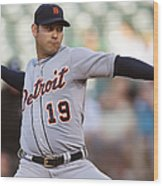 Anibal Sanchez Wood Print