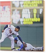 Anthony Gose and Eduardo Escobar Wood Print