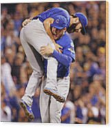 Anthony Rizzo and Jake Arrieta Wood Print