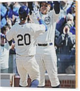 Anthony Rizzo and Justin Ruggiano Wood Print