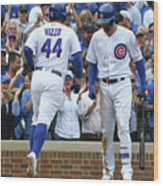 Anthony Rizzo and Kris Bryant Wood Print