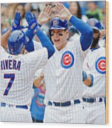 Anthony Rizzo and Rene Rivera Wood Print
