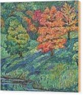Autumn Pond Wood Print