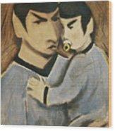 Baby Spock Art Print Wood Print
