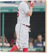 Baltimore Orioles V Cleveland Indians Wood Print