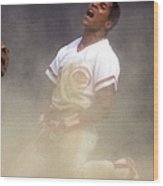 Barry Larkin Wood Print