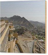 beautiful architecture  Amber fort and mughal empire at jaipur  rajasthan india Wood Print