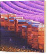 Beehives of Provence Wood Print