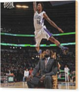 Ben Mclemore and Shaquille O'neal Wood Print