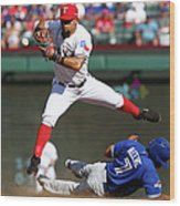 Ben Revere and Rougned Odor Wood Print
