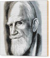 Bernard Shaw - Mixed Media Wood Print