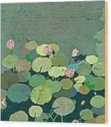 Bettys Serenity Pond Wood Print