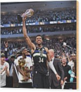 Bill Russell and Giannis Antetokounmpo Wood Print