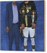 Bill Russell and Kevin Durant Wood Print