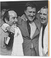 Billy Martin and Yogi Berra Wood Print