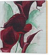 Black Callas Wood Print