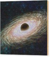 Black hole 01 Wood Print