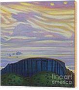 Black Mesa Wood Print