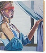 Blindfold Wood Print