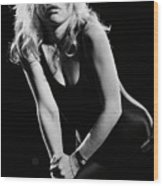 Blondie In Concert At The Whiskey Wood Print