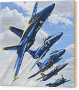 Blue Angels Heritage Wood Print