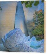 Blue Ribbon Garden Wood Print