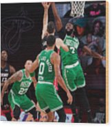 Boston Celtics v Miami Heat - Game Three Wood Print