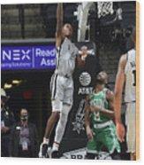 Boston Celtics v San Antonio Spurs Wood Print