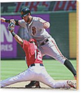 Brandon Belt and Rougned Odor Wood Print
