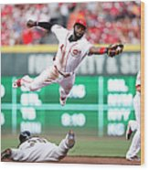Brandon Crawford and Brandon Phillips Wood Print