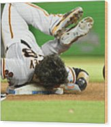 Brandon Crawford and Buster Posey Wood Print