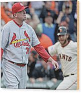 Brandon Crawford and Randy Choate Wood Print
