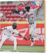 Brandon Phillips and Aaron Hill Wood Print
