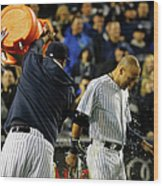 Brett Gardner and Derek Jeter Wood Print
