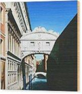 Bridge Of Sighs  Venice  Italy Wood Print